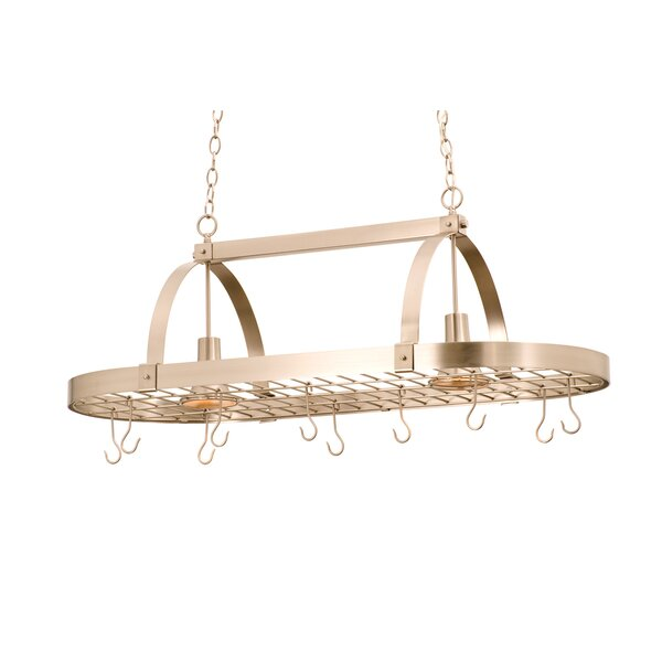 Hanging Pot Rack with 2 Light by Kalco