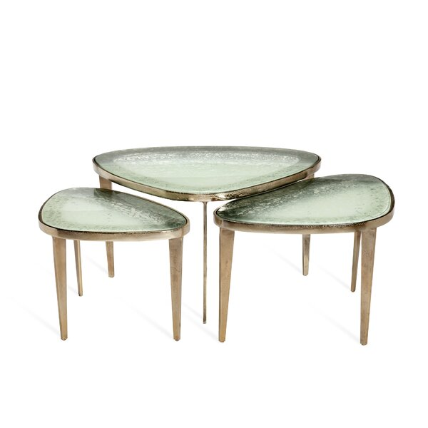 Interlude Glass Top Coffee Tables