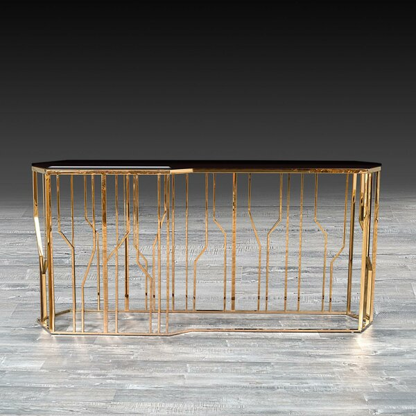 Everly Quinn Glass Console Tables