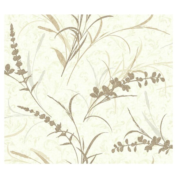 Botanical Wallpaper in Old Gold by York Wallcoverings