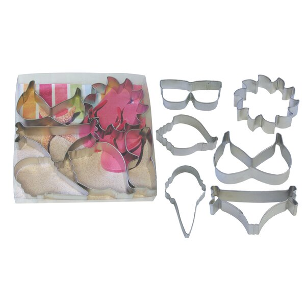 6 Piece Summer Cookie Cutter Set by R & M International Corp.