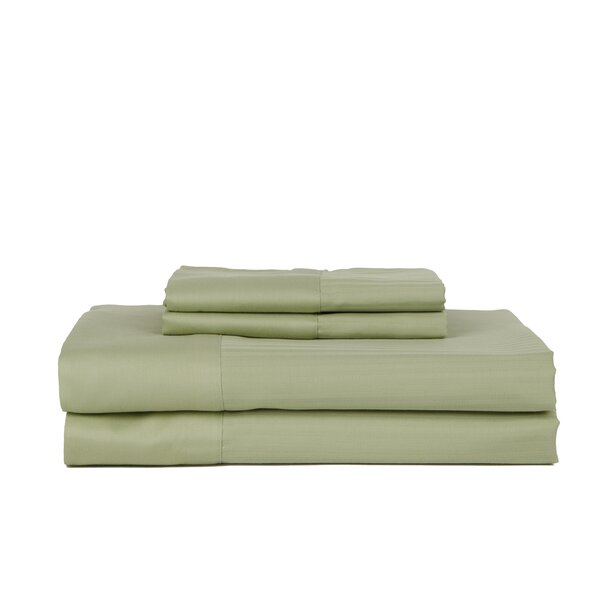 Hobbes 4 Piece 700 Thread Count Egyptian Quality Cotton Sheet Set by The Twillery Co.