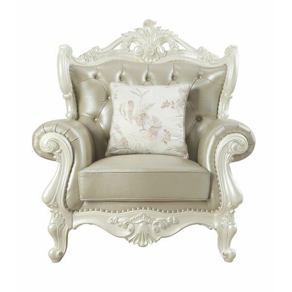 Kurt Leather Armchair by Astoria Grand