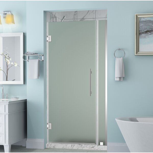 Belmore 73 x 72 Hinged Frameless Shower Door by Aston