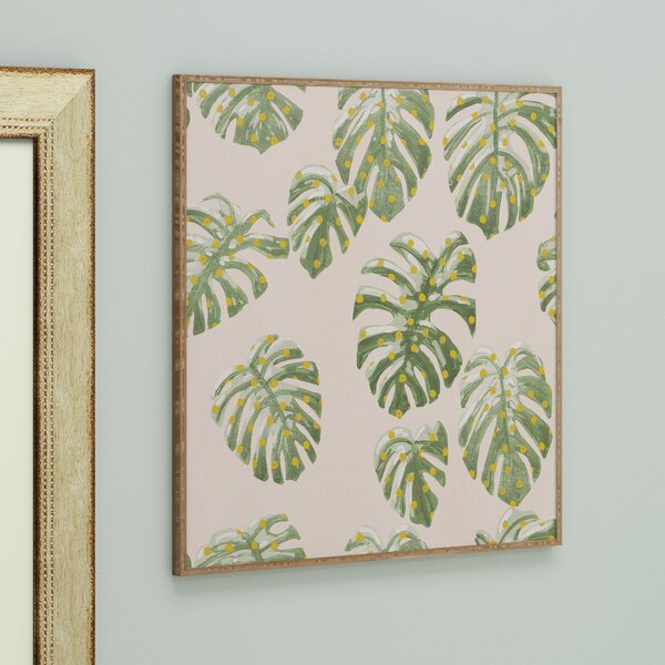 Palm Oasis Framed Painting by Bay Isle Home