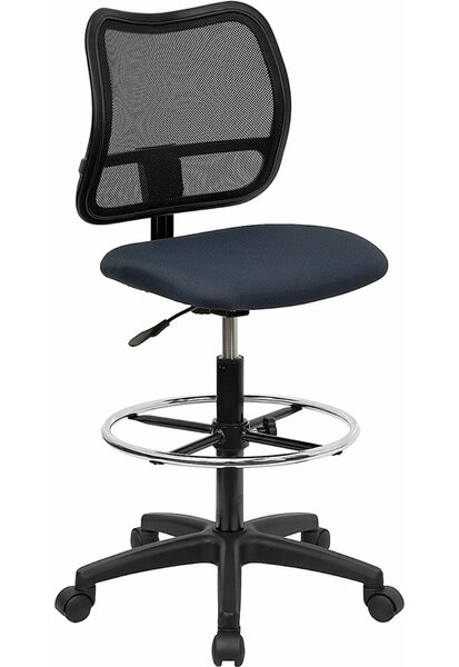 Krull Mid-Back Mesh Drafting Chair by Symple Stuff