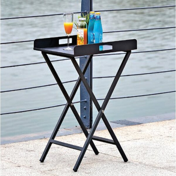 Shallowater Metal Side Table by Charlton Home