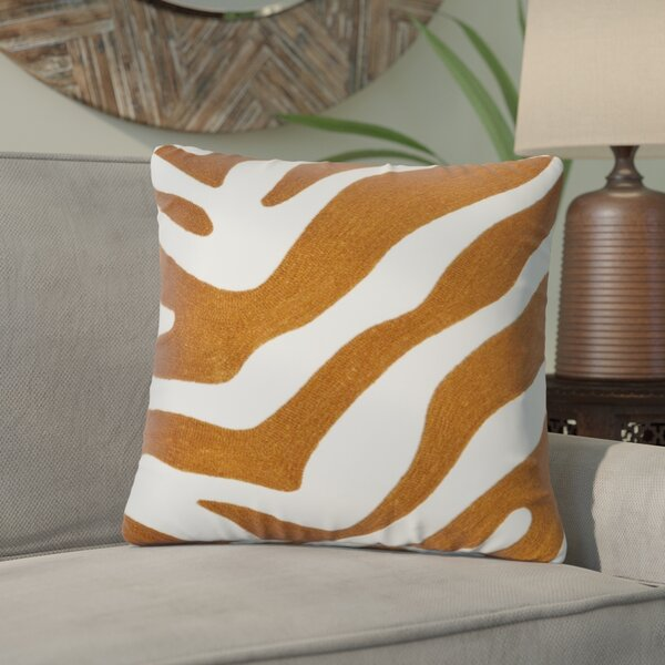 Zebra Design Pillow Cotton Throw Pillow by World Menagerie