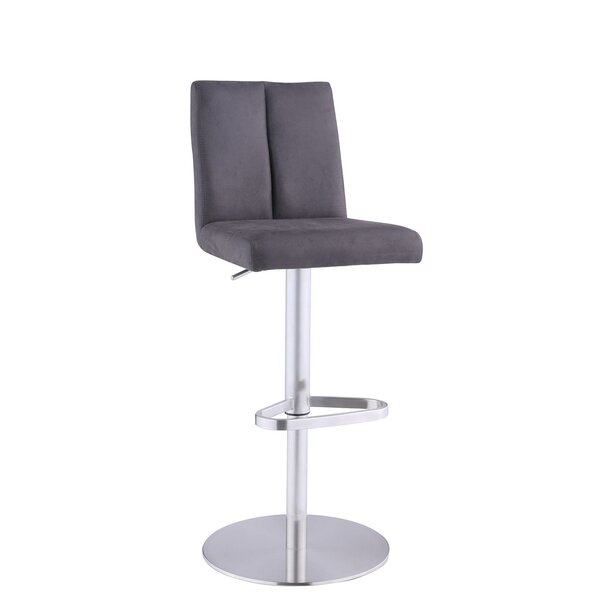 Cavan Adjustable Height Swivel Bar Stool by Orren Ellis Orren Ellis