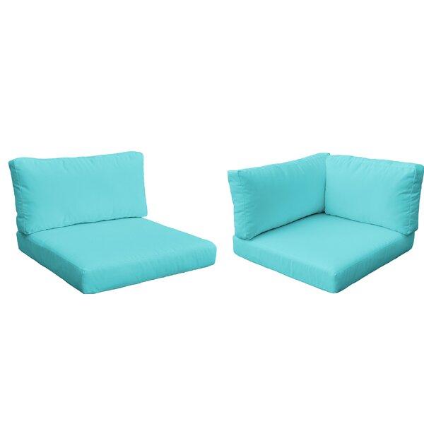 Monaco Outdoor 10 Piece Lounge Chair Cushion Set By TK Classics