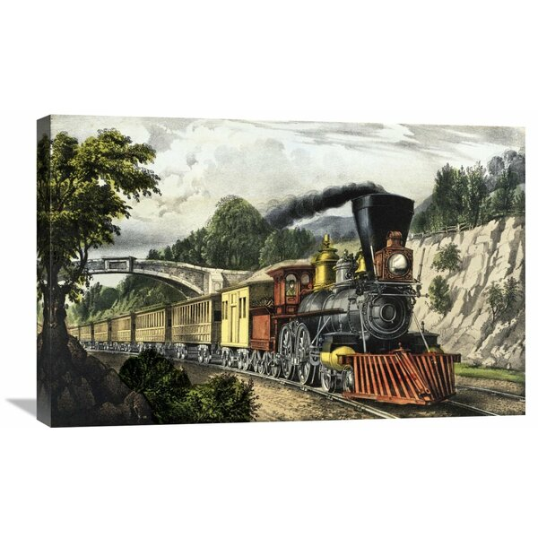 Steam Engines Currier Express Train Prints Vintage Railroad Placemats Set of 4