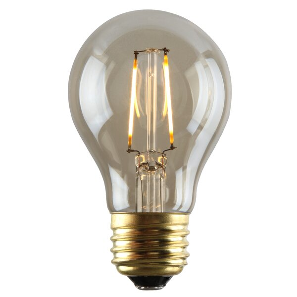 2W Amber E26 LED Light Bulb by Sunset Lighting