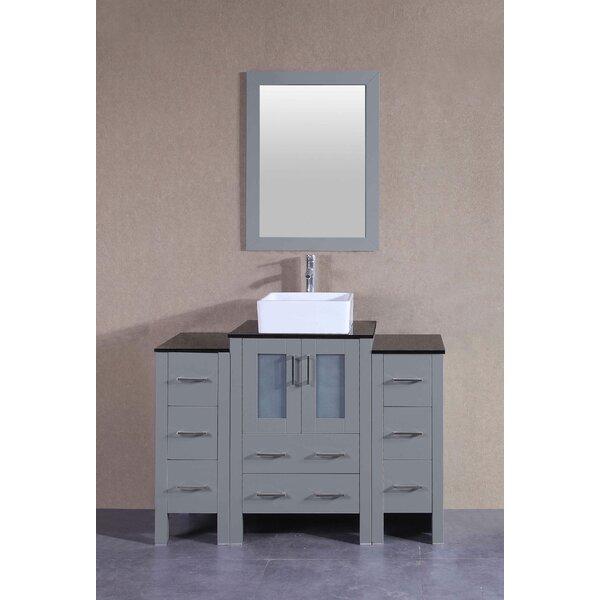 Amethyst 48 Single Bathroom Vanity Set with Mirror by Bosconi