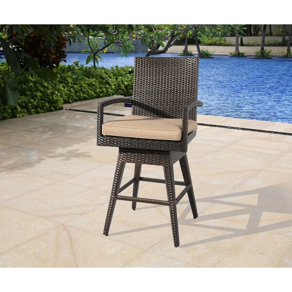 Luyster Swivel 29.5'' Bar Stool by Bayou Breeze Bayou Breeze
