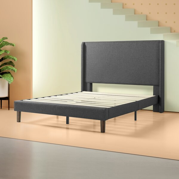 Marcus Upholstered Platform Bed by House of Hampton