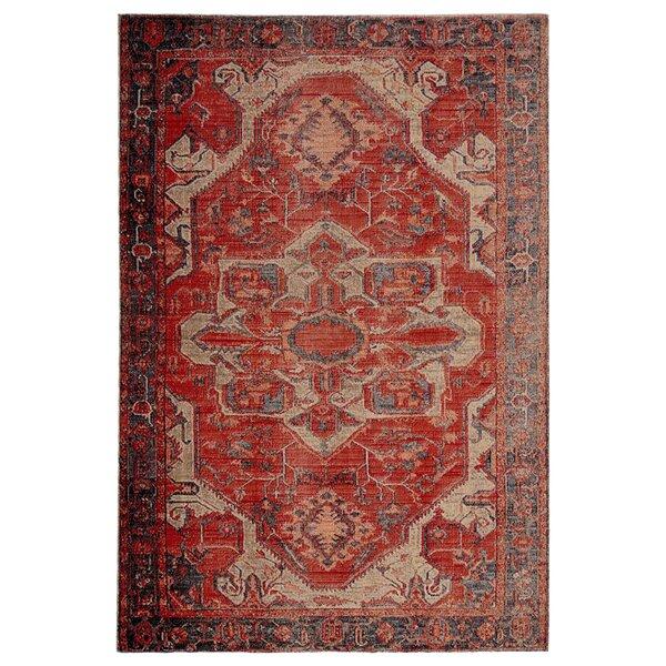 Farragut Oriental Red/Beige Indoor / Outdoor Area Rug