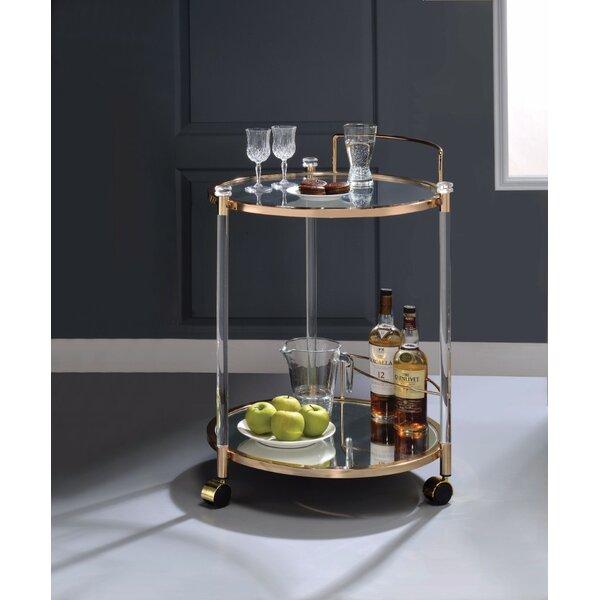 Cassity Metal Serving Bar Cart by Brayden Studio
