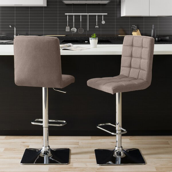 Dostie Adjustable Height Swivel Bar Stool (Set of 2) by Brayden Studio