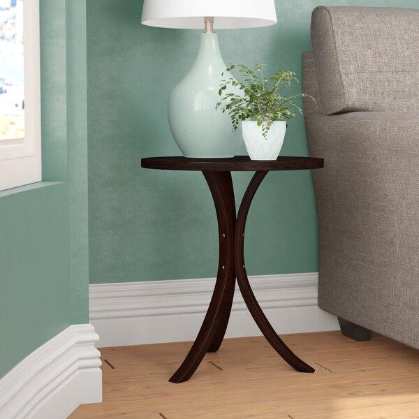 Keasler Solid Wood 3 Legs End Table By Ebern Designs