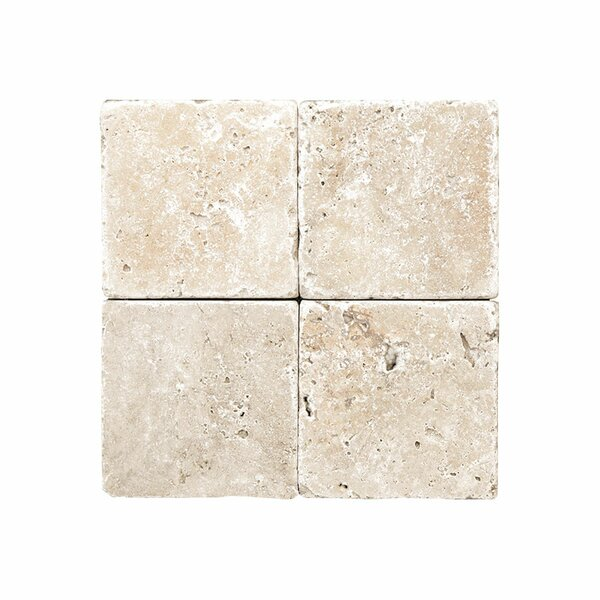 Rustic 0.38 x 6 Travertine Field Tile in Ivory by Parvatile