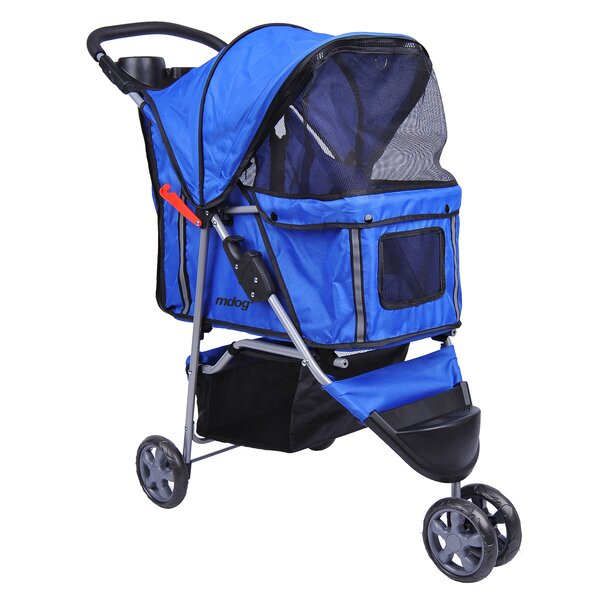 Columbia 3-Wheel Front & Rear Entry Pet Stroller by Tucker Murphy Pet