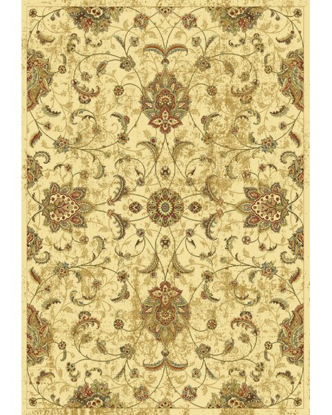 Fernson Ivory Mahal Area Rug by Charlton Home