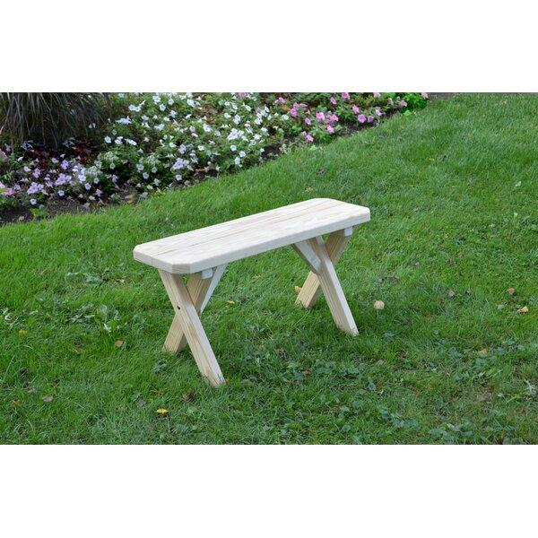 Rodman Wood Picnic Bench by Loon Peak