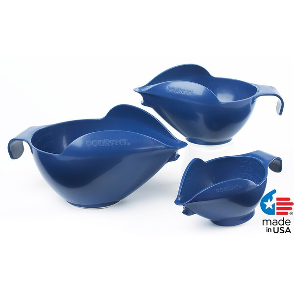 3 Piece Prep Mixing Bowl Set by POURfect