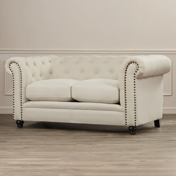 Latest Style Dalila Chesterfield Loveseat by Willa Arlo Interiors by Willa Arlo Interiors
