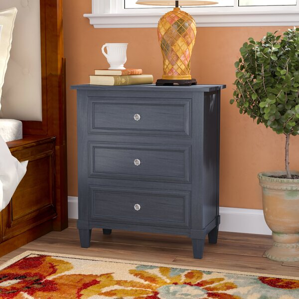 Swanage 3 Drawer Nightstand By Charlton Home by Charlton Home Great price