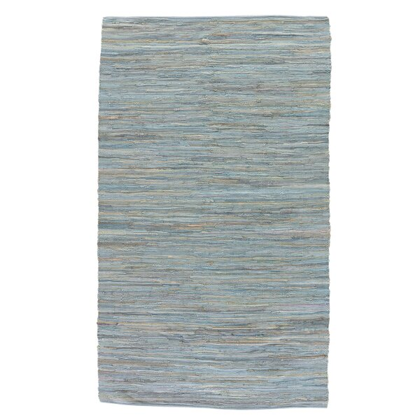 Cummins Cotton Solids/Handloom Blue Area Rug by Beachcrest Home