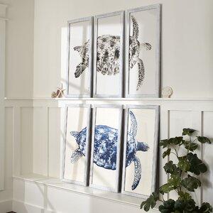 Sea Turtle Triptych Framed Print by Birch Lane™