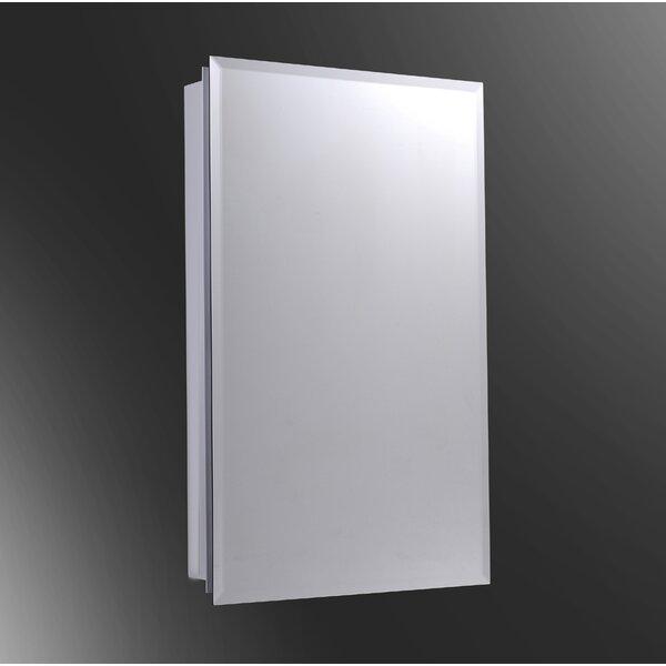 Ouida Edge Mirror Door 52 x 18 Surface Mount Frameless Medicine Cabinet with 7 Adjustable Shelves by Winston Porter