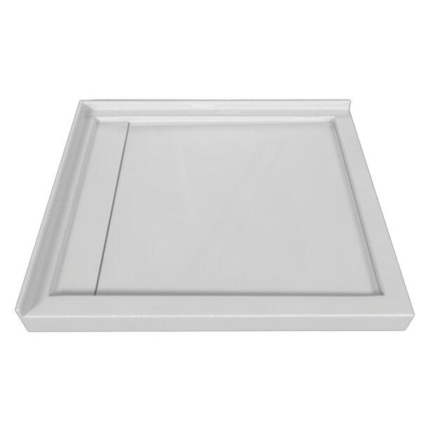 Signature Acrylic 48 x 42 Double Threshold Shower Base