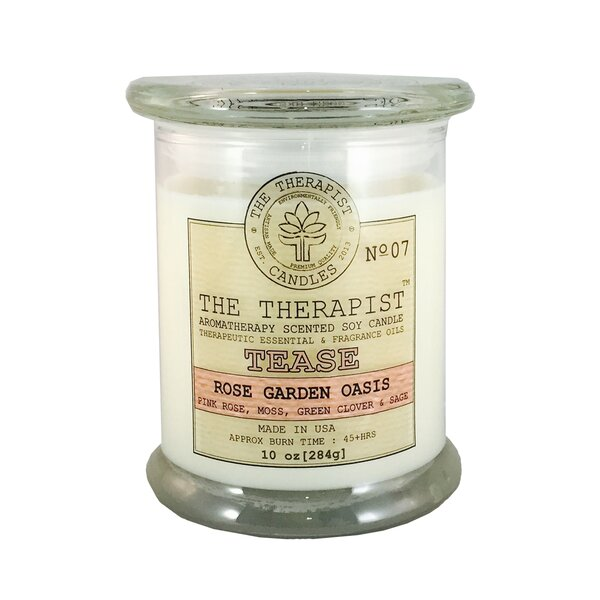 Rose Garden Oasis Scent Jar Candle by The Therapist Candles