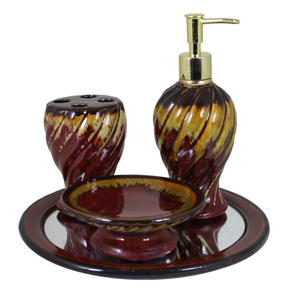 Middle Village Ceramic 4 Piece Bathroom Accessory Set by Bloomsbury Market