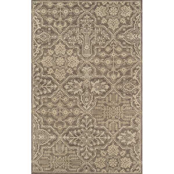 Worreno Hand-Tufted Wool Indoor Brown Area Rug by Bungalow Rose