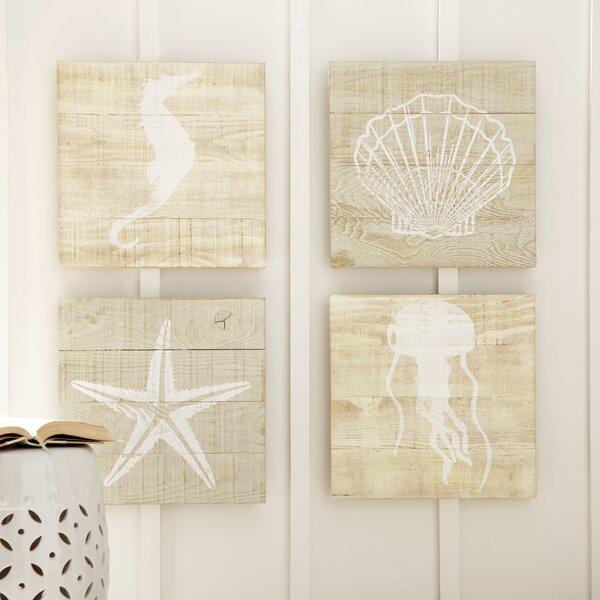 Seascape Wood Wall Art (Set of 4) by Birch Lane™