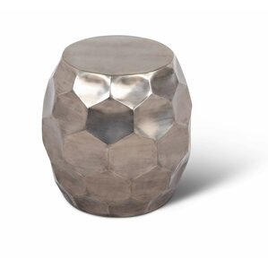 Coraline Round Nickel End Table by Ivy Bronx