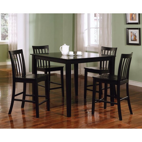 Landover Wooden 5 Piece Counter Height Dining Set By Alcott Hill Great price