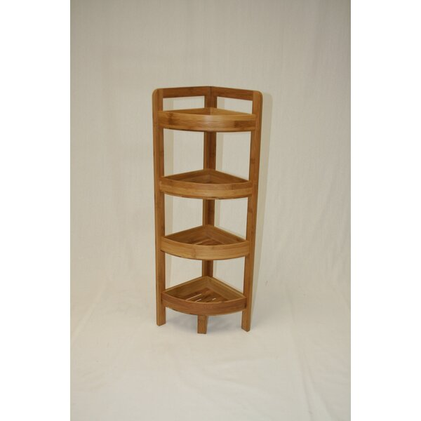 Dengler 4 Tier Bamboo Corner Unit By Harriet Bee