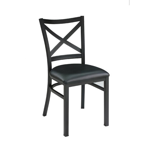 Restaurant Genuine Leather Upholstered Dining Chair (Set of 2) by New Spec Inc