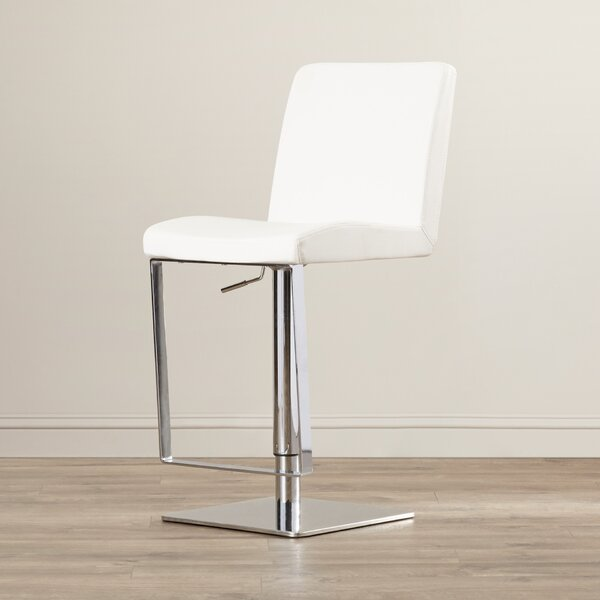 Wesley Adjustable Height Swivel Bar Stool by Wade Logan
