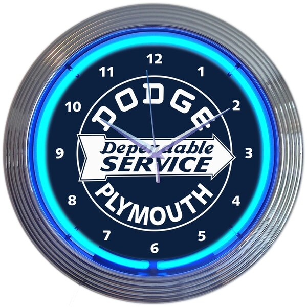 15 Dodge Dependable Service Neon Wall Clock by Neonetics