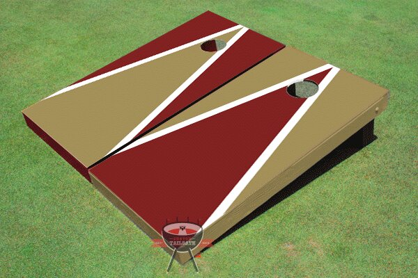 Alternating Triangle Cornhole Board (Set of 2) by All American Tailgate