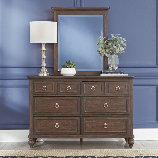 Caitlynn 8 Drawer Double Dresser with Mirror by Longshore Tides