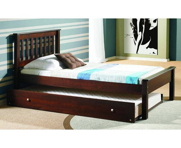 Starr Hill Twin Slat Bed with Trundle by Harriet Bee
