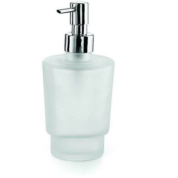 South Lamar Wall Mounted Frosted Glass Soap & Lotion Dispenser by Orren Ellis