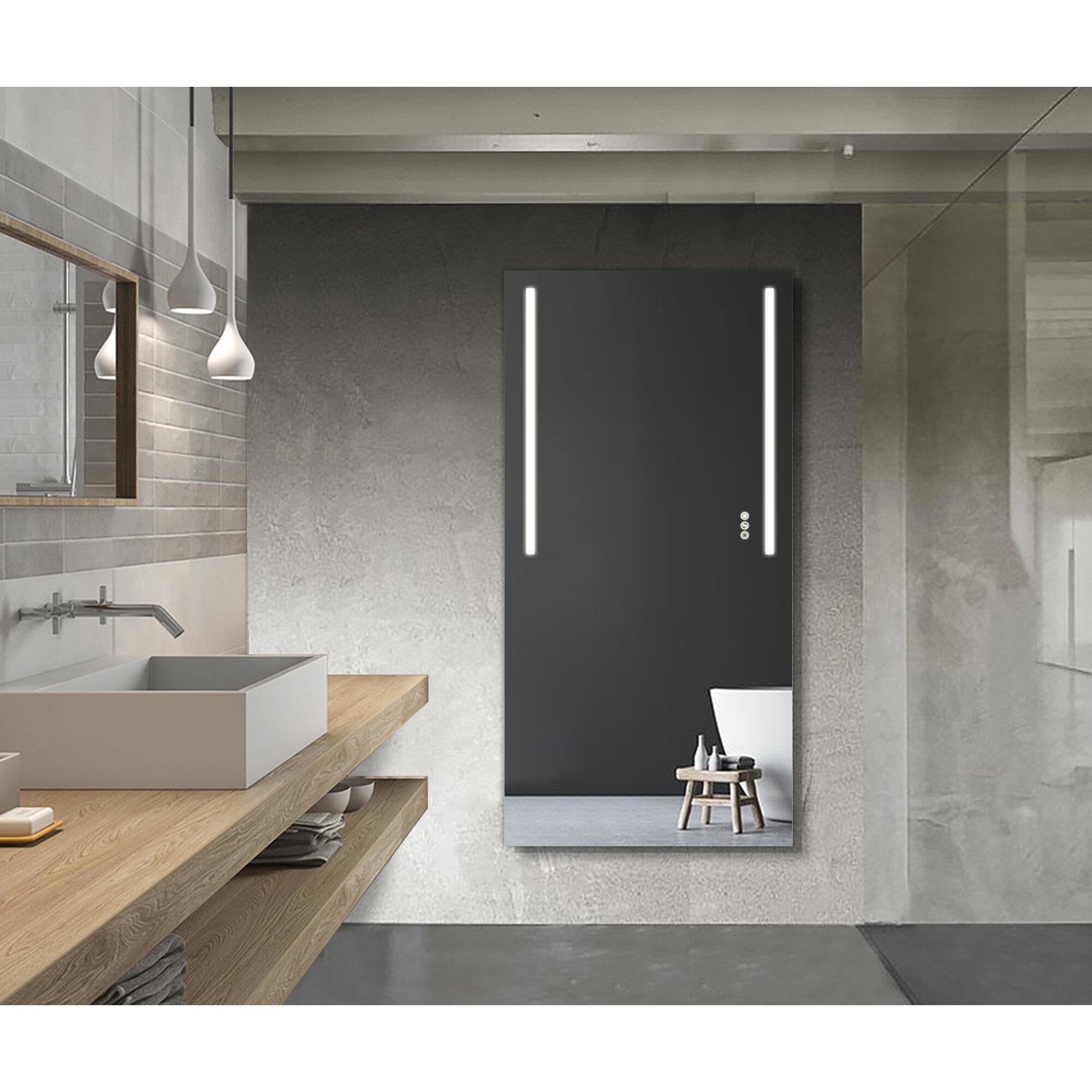 Contemporary Lighted Bathroom Mirror