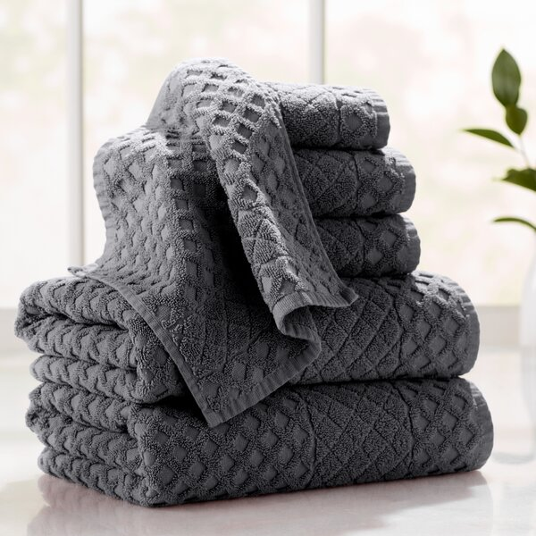 Flanagan 6-Piece Diamond Turkish Cotton Towel Set by The Twillery Co.